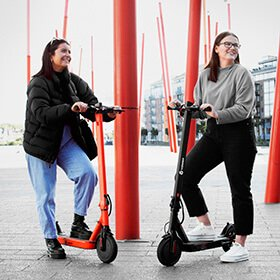 Tow e-scooters